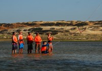 Safety workshop on the Kite Camp in Lagoinha